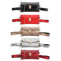 Chain Shoulder Waist Bags Fanny Packs Women PU Leather Crossbody Chest Bag Putse