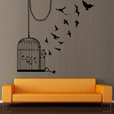 Wall Decal Sticker Birdcage Cage Bird Room Flight Chain Key bedroom decor M373
