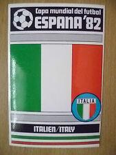 1982 COPA MUNDIAL DEL FUTBOL STICKER- ITALIEN/ ITALY- ESPANA 82 (12x8 cm)