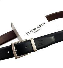 Giorgio Armani reversible Leather Belt in black/brown