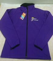 WOMANS LADIES SCANIA PURPLE RESULT SOFTSHELL JACKET & EMBROIDERED LOGOS STYLE 1