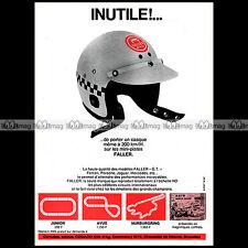 FALLER AMS AUTO MOTOR SPORT 1968 CIRCUIT SLOT CAR RACING VINTAGE - Pub Ad #A1557