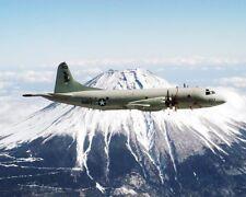 Navy P-3C / P-3 Orion Mount Fuji, Japan 8x10 Silver Halide Photo Print