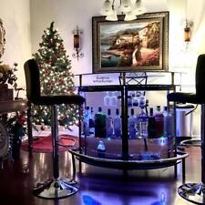 Modern Black Mini Bar Multi Storage Buffet Home Liquor Cabinet Table Glass Rack