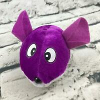 Ideal Toys Direct Mouse Plush Purple Cross-Eyed Stuffed Animal Soft Toy