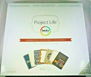 Project Life Becky Higgins Cinnamon Edition 616 Cards Scrapbook