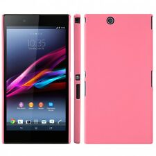 Coque rigide rose pour Sony Xperia Z Ultra aspect mat toucher rubber gomme