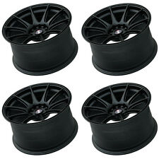 "XXR 527 18"" x 8.75 ET20 5x100 5x114.3 FLAT BLACK WIDE RIMS ALLOYS WHEELS Z1667"