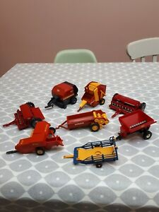 BRITAINS FARM TOYS JOB LOT OF TRACTOR IMPLEMENTS FARM MACHINERY