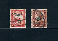 New Zealand 1936 - 1d & 1½ Issues Ovprtd Official SC O58-59 [SG O115-116] USED19