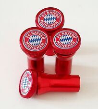 FC BAYERN MUNICH  huge metal valve Tyre Dust Caps with free stem covers ALL CARS