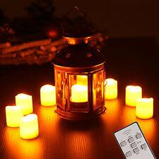 9 LED Kerzen mit Fernbedienung flammenlos Teelichter Weihnachtskerzen 9er Set