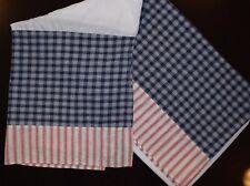 Walt Disney Baby Red White Blue Plaid Striped Crib Dust Ruffle Skirt Unisex Cute