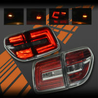 Smoked Red LED Tail Lights for Nissan Patrol Y62 12-18
