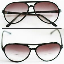 Reading Glasses Bifocal TINTED 70-80's Office Style ~ Black Frame +2.75 Lens