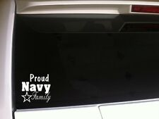 """Proud Navy Family sticker vinyl car decal 6""""*A41 military armed forces patriotic"""