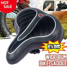 Comfort Wide Big Bum Bicycle Bike Gel Cruiser Extra Seat Soft Sporty Z8J9