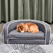 Round Pet Sofa Dog Cat Bed Lounge Extendable Couch for Smal Medium Sized Pet