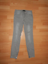 Laura Scott Stretch Jeans Hose Jeggings Slim Destroyed Gr.32 W24 L28 XS grau Neu