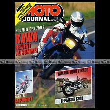 MOTO JOURNAL N°767 YAMAHA XV 1000 VIRAGO, YZ 125 & 250, KAWASAKI GPX 750 R 1986