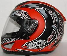 THH TS41 STREET MOTORCYCLE HELMET RED BLACK SM