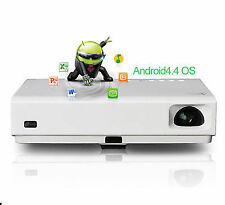 Android4.4 Mini Home Theater 3d DLP Laser LED Projector Full HD HDMI 1080p WiFi