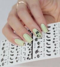Coconut Trees Water Decals Summer Theme Nail Art Transfer Stickers Manicure