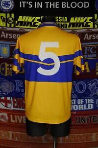 4.5/5 Clare GAA adults S #5 retro gaelic football shirt jersey trikot