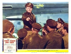 THIRTY SECONDS OVER TOKYO With SPENCER TRACY Orders BOMBING 11x14 LC Print 1944