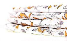 Indian Handmade Natural Hand Block Printed 2.5 yard Sanganeri Cotton Fabric