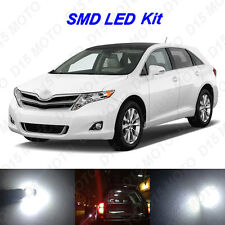 10x Ultra White LED Lights Interior Bulbs Package kit for 2009-2015 Toyota Venza