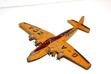 Dinky Toys Pre War 40 Seater British Airliner # 62X Rare Colour  ( G-A ZDA) !!