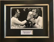 FRANZ BECKENBAUER HAND SIGNED WEST GERMANY AUTOGRAPH FRAMED PHOTO DISPLAY 1.
