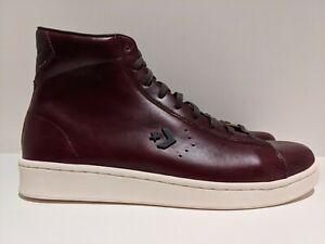Converse Horween Pro Leather Hi Tobacco Ganache Brown Egret Size 10.5 168750C