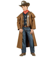 c22d3395 Childs Suede Effect Cowboy Fancy Dress Costume Wild West Outfit Boys Age  11-13
