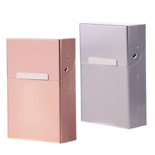 2pcs Aluminum Cigar Cigarette Box Storage for Women Men Gift Coffee & Gray