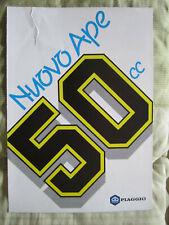 OPUSCOLO CAMION PIAGGIO – Nuovo Ape 50 cc – anni '90