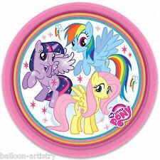 8 My Little Pony Charm Children's Party Large 23cm Disposable Paper Plates