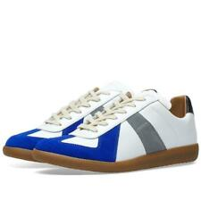 Mens Maison Margiela Replica Low White/Blue Trainers (SJ1) RRP £334.99