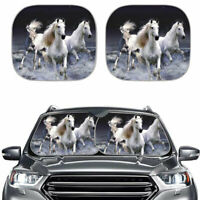 Fashion Horse Design Car Windshield Sun Shade Foldable Visors UV Protector Cool