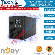 Gruppo Di Continuità UPS Online Onda Sinusoidale Pura 1000VA Echo Server Njoy