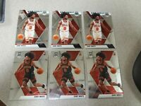 2019-20 Panini Mosaic Coby White RC Lot (6) Chicago Bulls Rookie Card #211 & 264