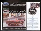 2000 FORD 75th ANNIV COV, 1970 XW FALCON GT GTHO P/II