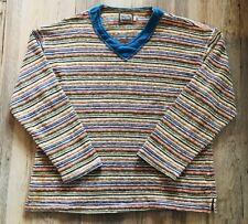 UGLY COSBY SWEATER Striped Multicolor Pacho e Lucia Cotton Men's Large L