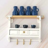 1:12 Dollhouse Accessories Miniature Kitchen Wood Wall Mounted Rack SALE 2019
