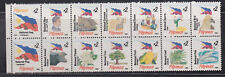 Philippine Stamps 1995 Flag with National Symbols Block of 14 (Format No.1) MNH