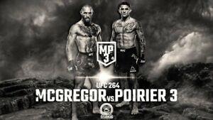 UFC 264 - McGregor vs Poirier 3 Countdown Promo Poster 11x17 16x24 24x36