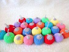 10 Christmas baubles hand crochet winter hanging decor