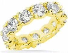 Yellow Gold Band Si1 clarity size 6 4.50 carat Round Diamond Eternity Ring 14K