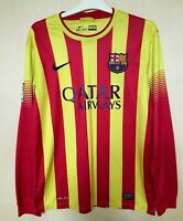 BARCELONA 20132014 AWAY FOOTBALL JERSEY CAMISETA SOCCER MAGLIA SHIRT LONGSLEEVE